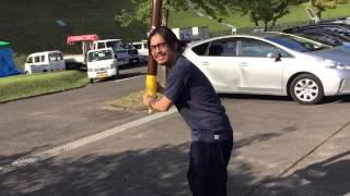 ザバックホーンのオフショットです。撮影兼指導はボーカル山田氏。