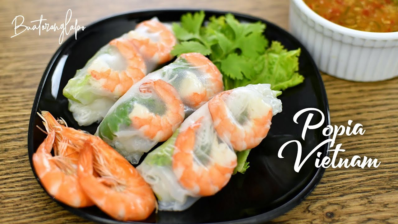 Popia Vietnam Vietnamese Spring Rolls Youtube