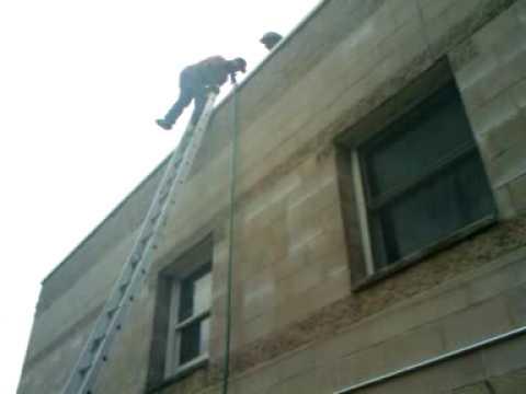 gypsy sliding down the ladder !!!! - YouTube