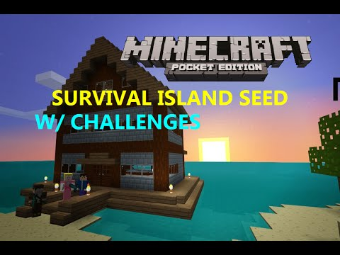 MCPE 0.16.1 -  COOL SURVIVAL ISLAND SEED WITH CHALLENGES !