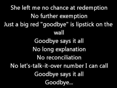 Goodbye Says It All Blackhawk Lyrics