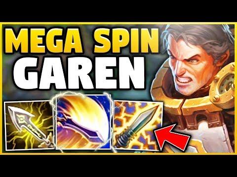 *NEW* WORLD RECORD SPIN DMG! THIS GAREN BUILD LITERALLY MELTS ENEMIES! - League of Legends