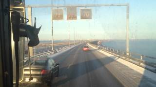 Bus 999 Malmo-Copenhagen via Öresundsbron (Bridge)