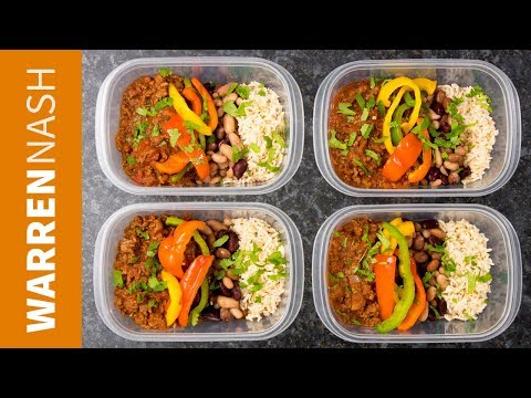 Chilli Beef Meal Prep Recipe - High Protein With Lean Ground Beef - Recipes By Warren Nash