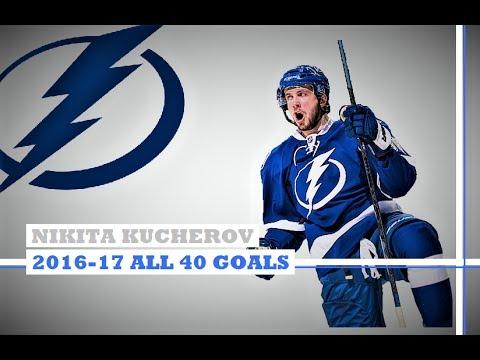 Nikita Kucherov (#86) ● ALL 40 Goals 2016-17 Season (HD)