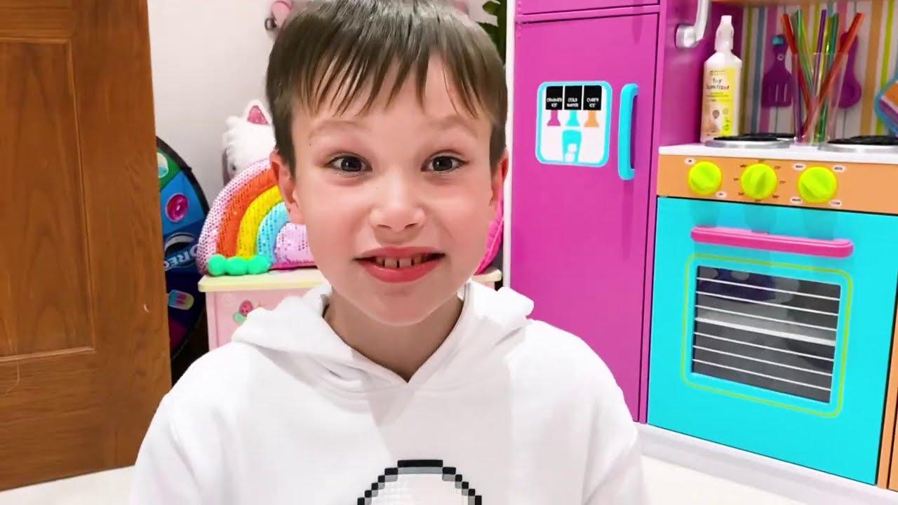 Катя и папа не поделили пончики