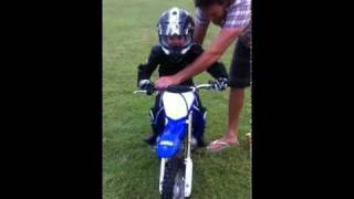 Kids motocross (4 year old just learnt)