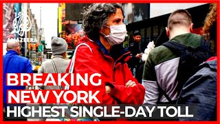 New York records highest single-day increase in COVID-19 deaths