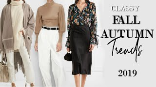What to Wear Fall / Autumn 2019 - 5 Classy / Elegant WEARABLE Trends