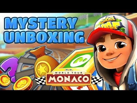 💰 Subway Surfers Mystery Unboxing - Opening Mystery Boxes in Monaco