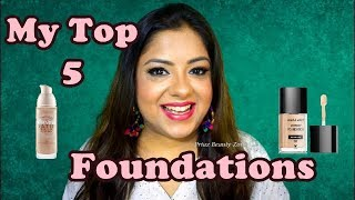 Mymost Favorite Top 5 Foundations for Indian Skin Tones 2018