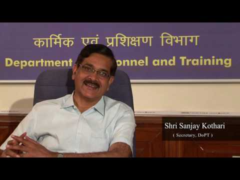Secretary, Personnel, Department of Personnel and Training , Shri Sanjay Kothari
