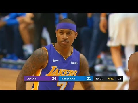 Isaiah Thomas First Bucket with Lakers in Lakers Debut After Cavaliers Trade!