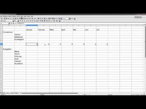 Haushaltsbuch (mit Excel oder Open Office Calc)