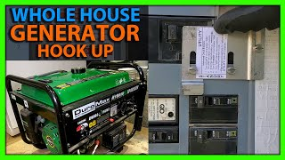 How To Hook Up a Generator To Your House Using a Breaker Interlock Kit & Power Inlet Box