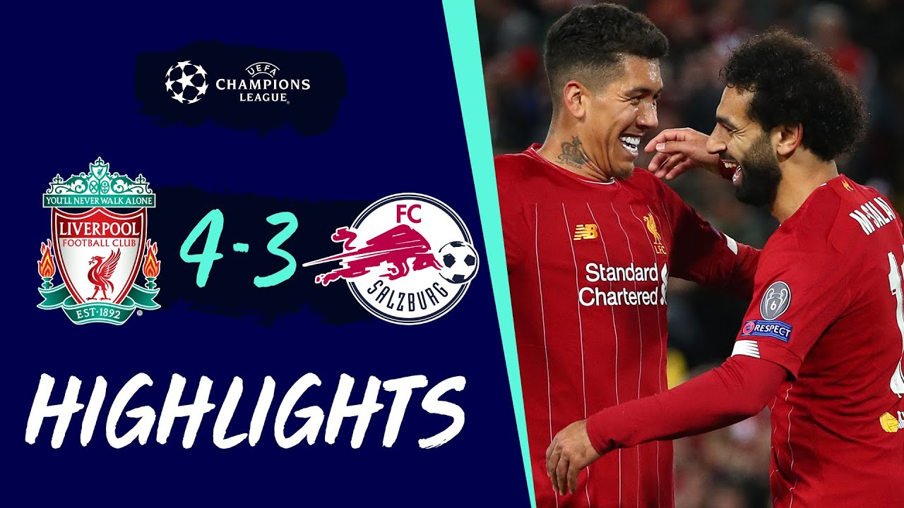 Salah Scores A Double After Salzburg Scare Liverpool Vs Salzburg Highlights Youtube