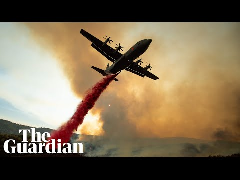 Mendocino Complex fire: aerial footage shows scale of California's biggest ever blaze