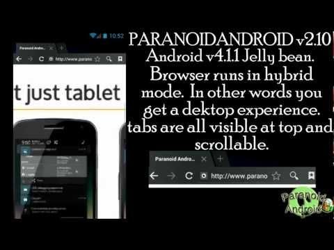 Samsung Galaxy S II GT-I9100 PARANOID ANDROID v2.10 Jelly bean Cyanogenmod 10 hybrid android 4.1.1