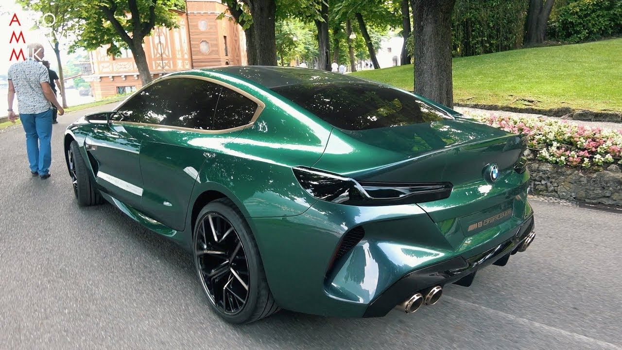 Bmw M8 Gran Coupe Concept On The Road Villa D Este 2018 Youtube