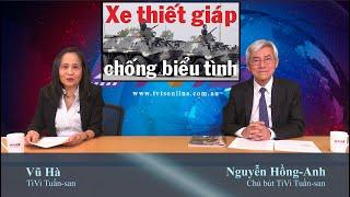 19/9: Biểu tình là khủng bố, đối mặt với súng đại liên, 5000 cảnh sát!TC chiếm biển tướng tá im re