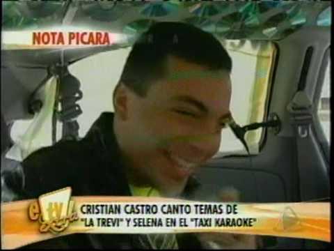 Cristian Castro en taxi karaoke de Dallas 2009