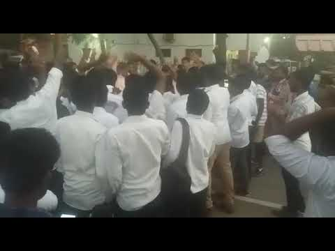 CHENNAI law college students strike .. ID card. Fire.