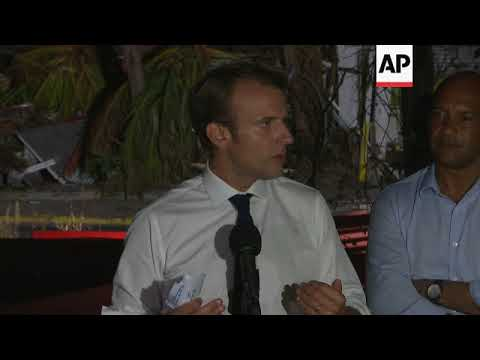 Macron on climate change and rebuilding St Martin