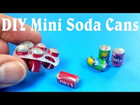 DIY Miniature Soda Cans Six Pack - Dollhouse DIY