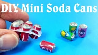 DIY Miniature Soda Cans Six Pack - Dollhouse DIY