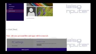Windows 8   How to restore the system ASUS to factory default settings
