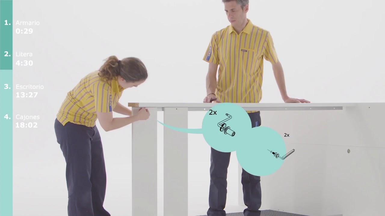 Instrucciones de montaje ikea cama con armario y - Armario escritorio ikea ...