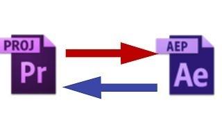 Как делать импорт из Adobe Premiere Pro в программу After Effects и обратно