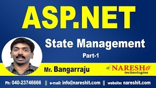 ASP.NET State Management Part-1 | ASP.NET Tutorials | Mr.Bangar Raju