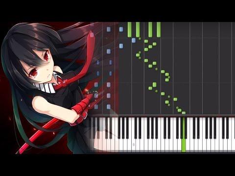 【FULL】Akame ga Kill! (アカメが斬る!) Opening 2 - Liar Mask (Piano Synthesia Tutorial + Sheet + Midi)