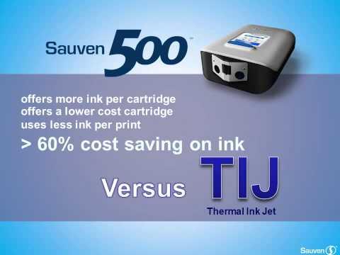 Sauven 500 Case and Carton Ink Jet Coder versus TIJ (Thermal Ink Jet)