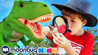 Dinosaur Fossil Challenge for New Years | Jurassic Tv | Dinosaurs and Toys | T Rex Family Fun