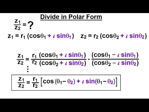Calculus 2: Complex Numbers & Functions (14 of 28) Divide in Polar ...