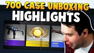CS:GO - 700 Cases Unboxing Highlights - 700k Subscriber Milestone