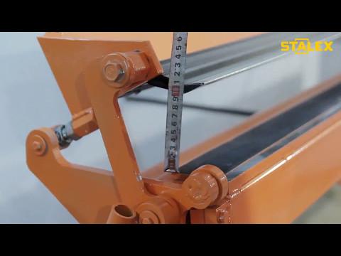 Обзор Станок листогибочный STALEX RS