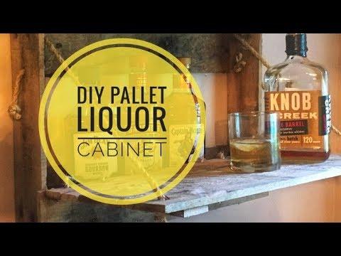 DIY Liquor Cabinet Pallet Project