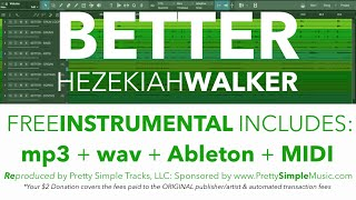 "Hezekiah Walker ""BETTER"" Instrumental + MORE!!!"