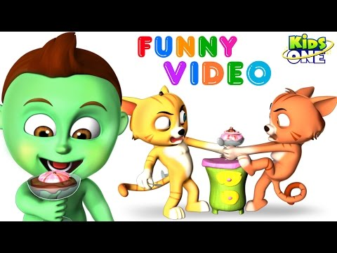 Two CATS Fight | BABY HULK got an ICE CREAM | Funny Video for Kids