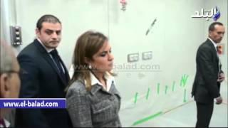 بالفيديو والصور.. وزيرة التعاون الدولى أنشط وزراء'اسماعيل'..تقوم بأولى جولاتها للوقوف على تطور إنتاج الأمصال