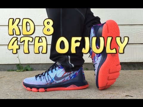 8d18422b6af1 KD 8 VIII - 4th of July - USA Review with ON FEET - YouTube