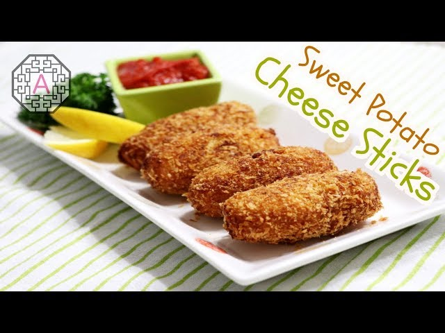 Korean Sweet Potato Cheese Sticks (고구마 치즈스틱) | Aeri's Kitchen