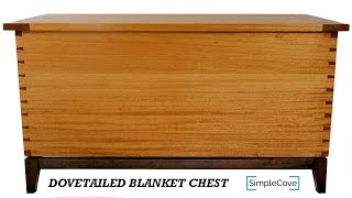 For free plans and step-by-step videos, visit http://www.simplecove.com/guild/dovetailed-blanket-chest/ This blanket chest is made ...