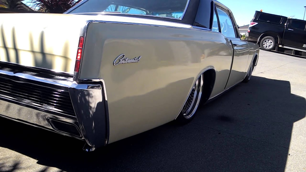 1966 lincoln continental coupe lowrider bagged - YouTube