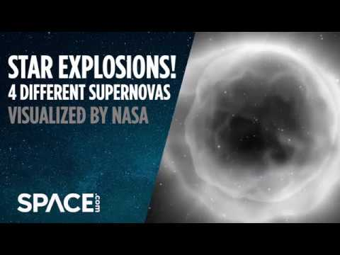 Star Explosions! 4 Different Supernovas Visualized by NASA