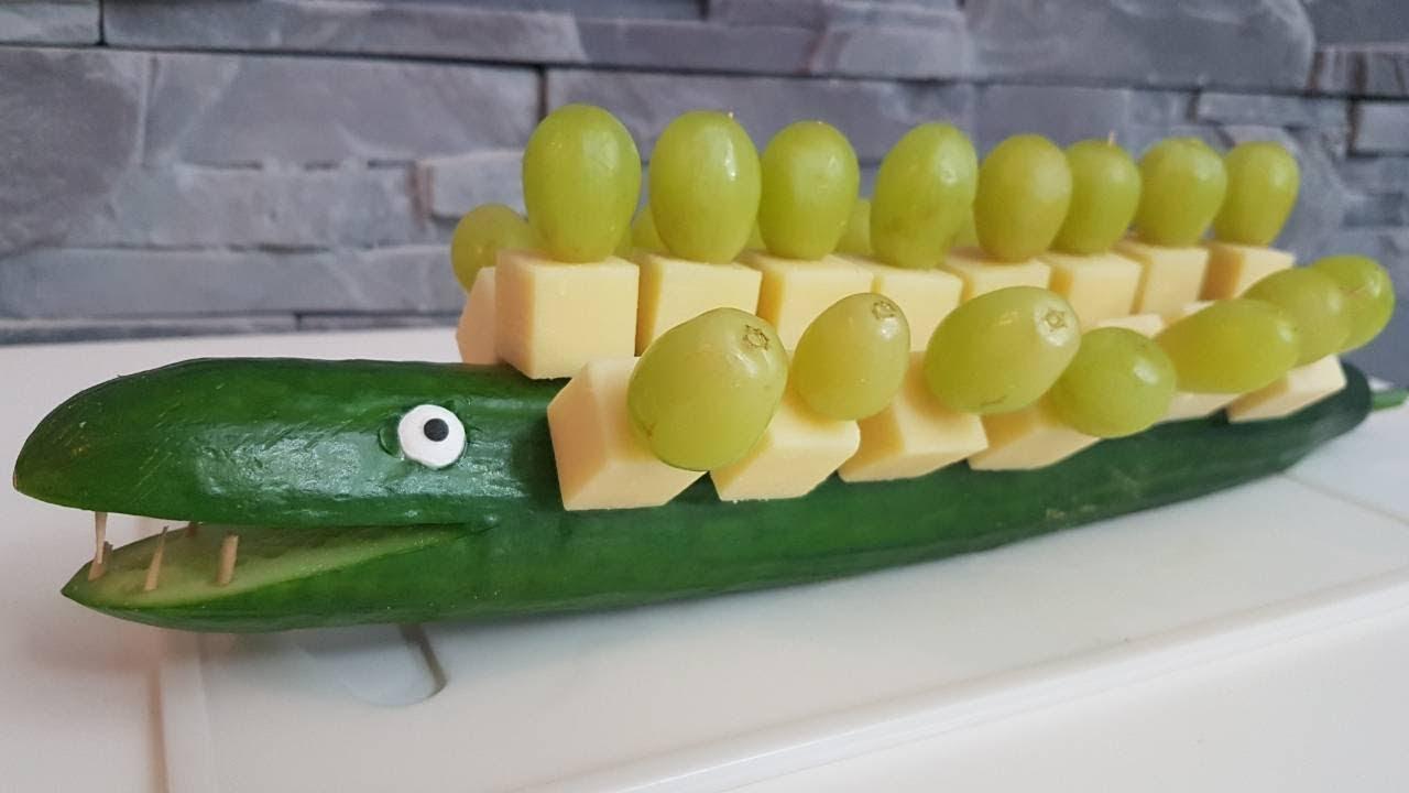 party krokodil gurkenkrokodil party snacks zum selber machen youtube. Black Bedroom Furniture Sets. Home Design Ideas