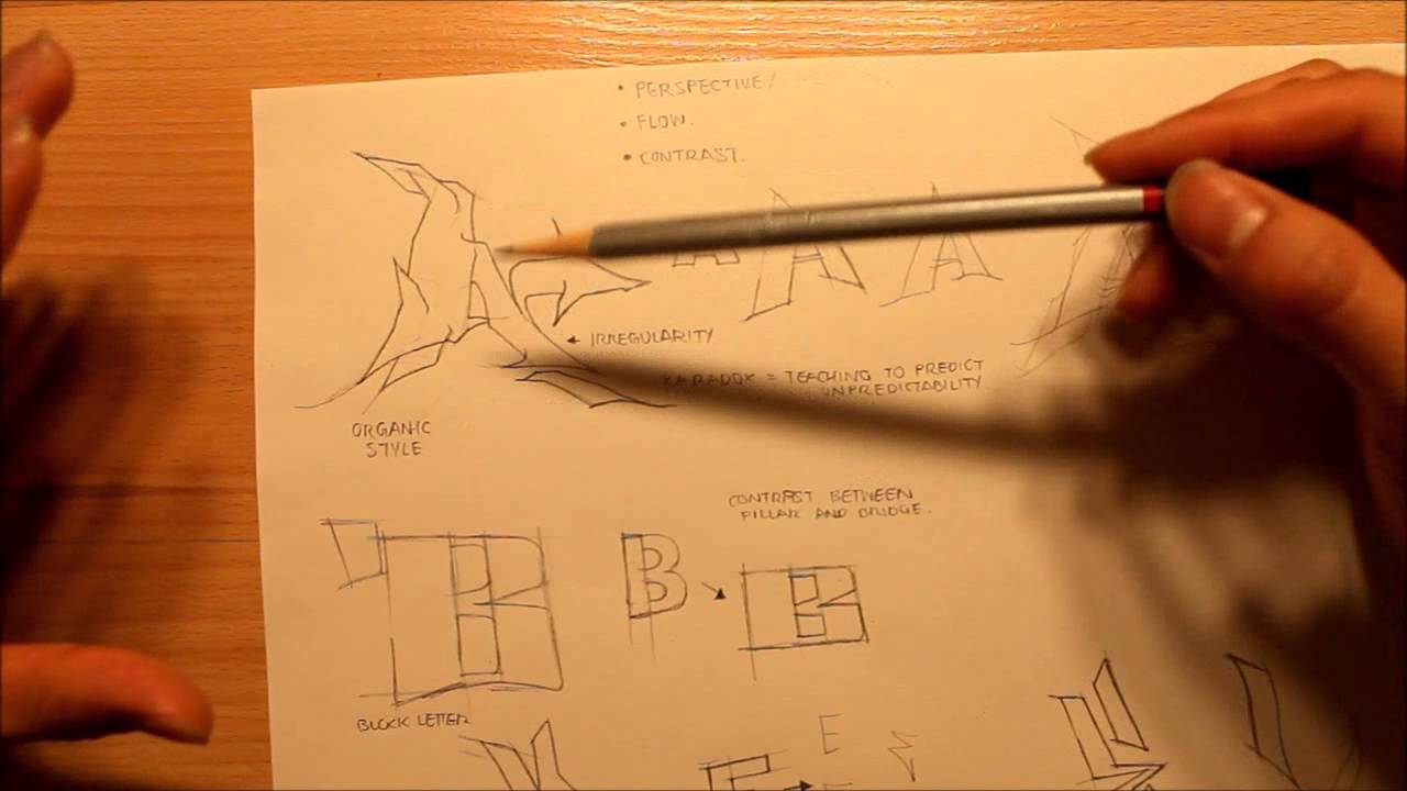 How To Draw Graffiti Letters 3 Different Styles Graphics Graffiti And Illustration
